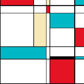 ColorBlock Turquoise Enlarged