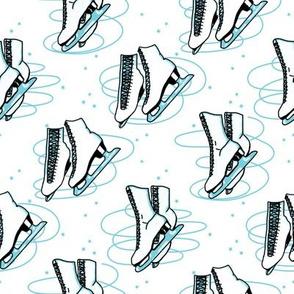 Blue Ice Skates