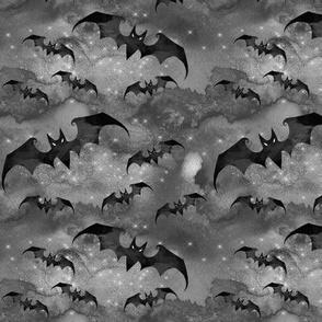 Creepy halloween bats