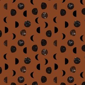 speckled black moon phases // cinnamon