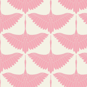 Swan Song // Bubblegum Pink on Ecru