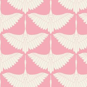 Swan Song // Ecru on Bubblegum