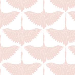 Swan Song // Blush on White