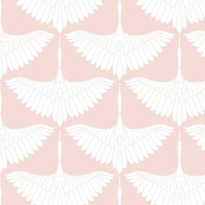Swan Song // White on Blush