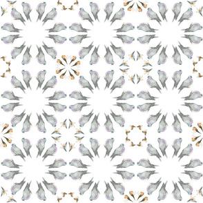Garden bird kaleidoscope