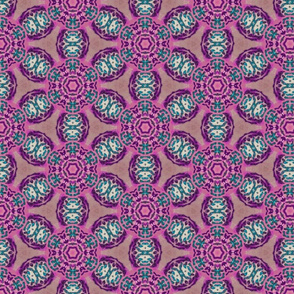 african flower motif purple - large print