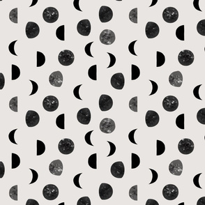 speckled black moon phases // 169-1