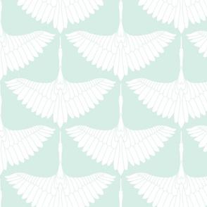 Swan Song // White on Robin's Egg