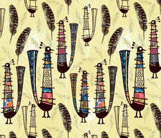 African Tribal Birds of a feather flock together