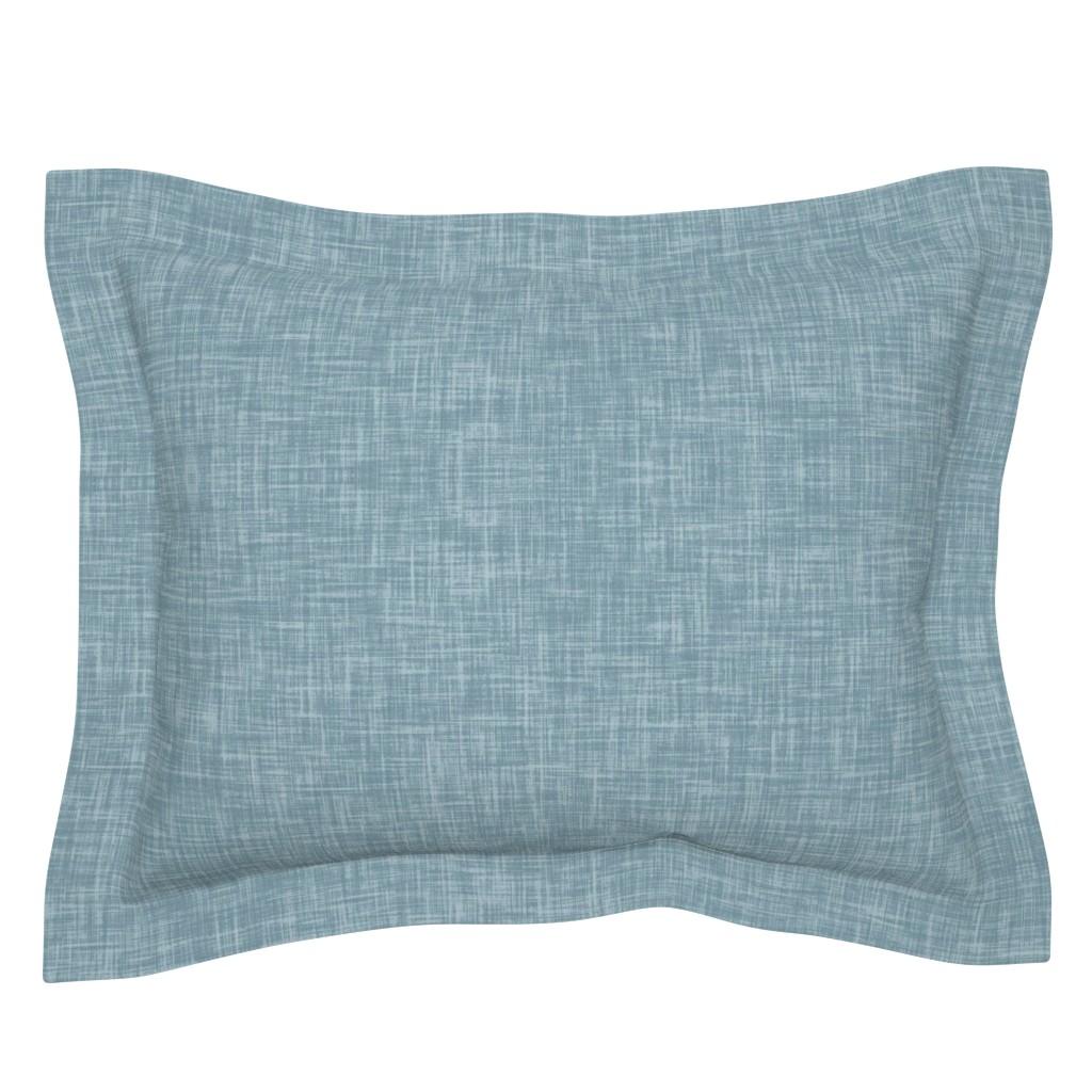 Sebright Pillow Sham featuring Blue Linen by erin__kendal