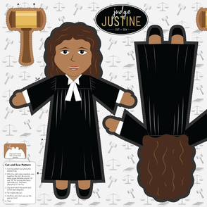 Judge Justine Cut and Sew Plushie Pillow Doll