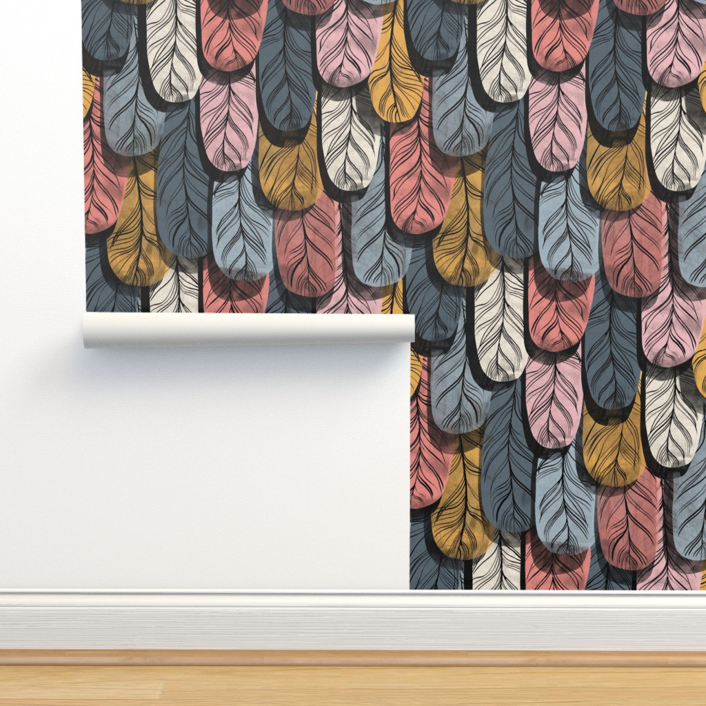 Isobar Durable Wallpaper featuring Borrowed Plumes by mariaspeyer