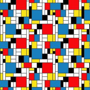 Mondrian's abstract trees - small
