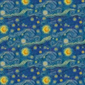 """still smaller Starry Night sky (4"""" repeat)"""