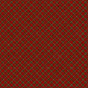 "Cumming / Comyn red tartan, diagonal  1/2"""
