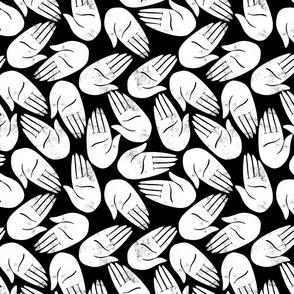 Hands Print inverted