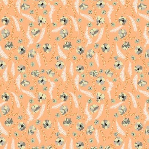 Moody Floral Cantaloupe Orange Small