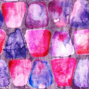 19-6AB Batik Pink Purple Tumbler