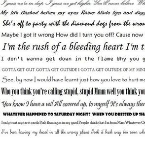 Lyric words
