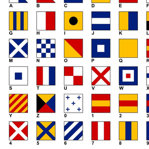 Nautical Flags Alphabet and Numbers