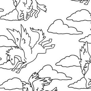 Coloring Book Pegasus