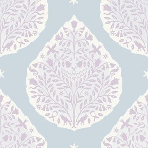 Custom Ice Blue and Lilac Paisley
