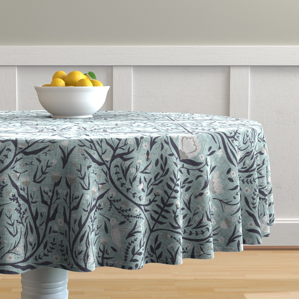 Malay Round Tablecloth featuring Folk Art - Pollinators by scarlette_soleil