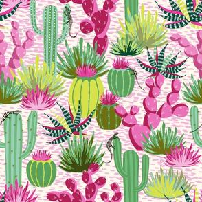 modern desert - green and fuchsia