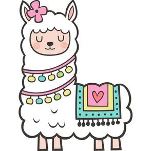 Llama Alpaca Pillow Plush Plushie Softie Cut & Sew 14 inch
