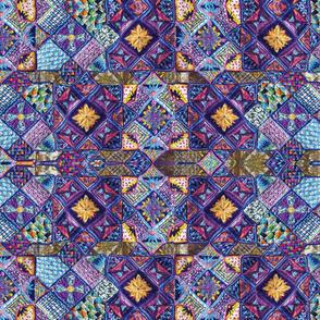 Octagon A3 repeat blue