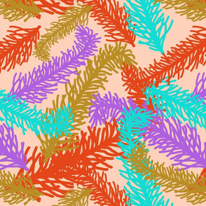 FestiveFeathers-Ostrich-Orange Sherbert