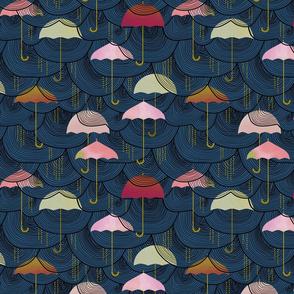Watercolor Umbrellas
