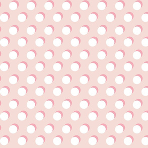 Shadow Dot // White on Bubblegum and Dusty Rose