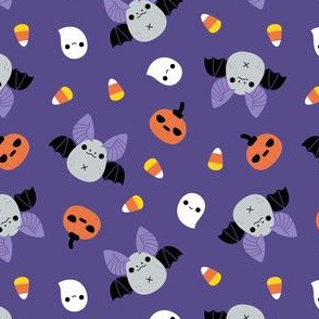 Kawaii Halloween bat pattern