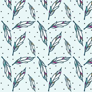 Bailey Polka Dot Feathers