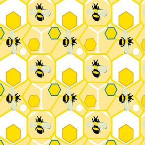 honeycomb hotel gold white