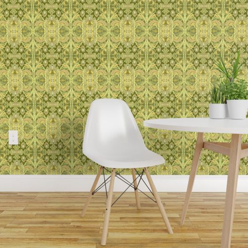 Wallpaper Screaming Lime Lace