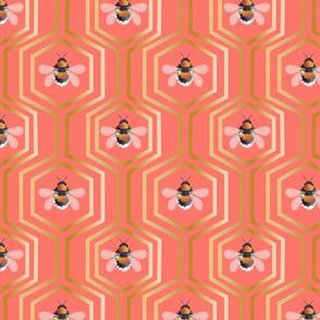 Geometric Honeycomb And Bumblebees