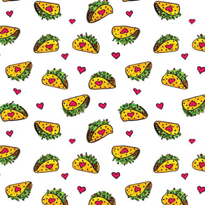 Taco bout love on white