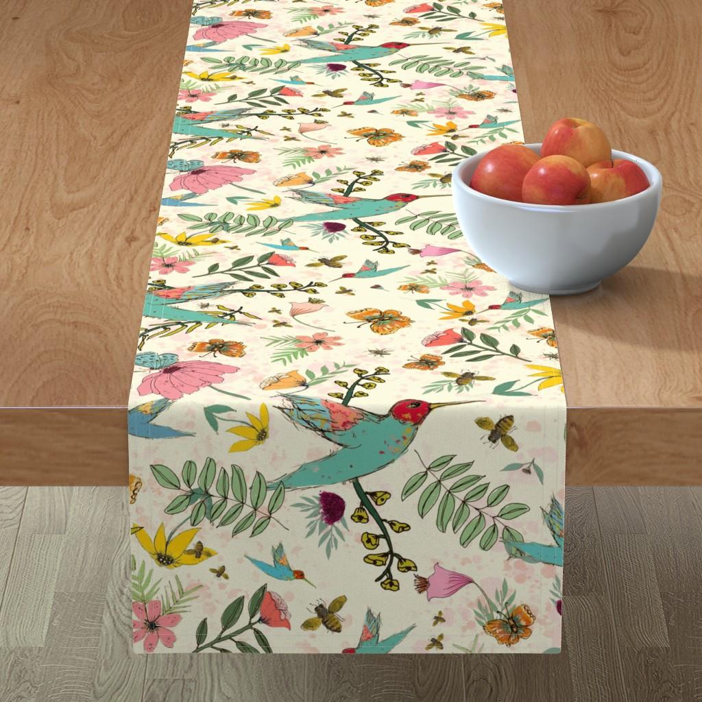 Minorca Table Runner featuring Hummingbird House by lynnpriestleydesign