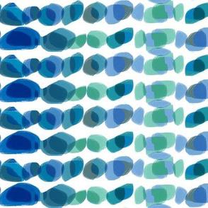 Blue green sea glass stones pebbles small