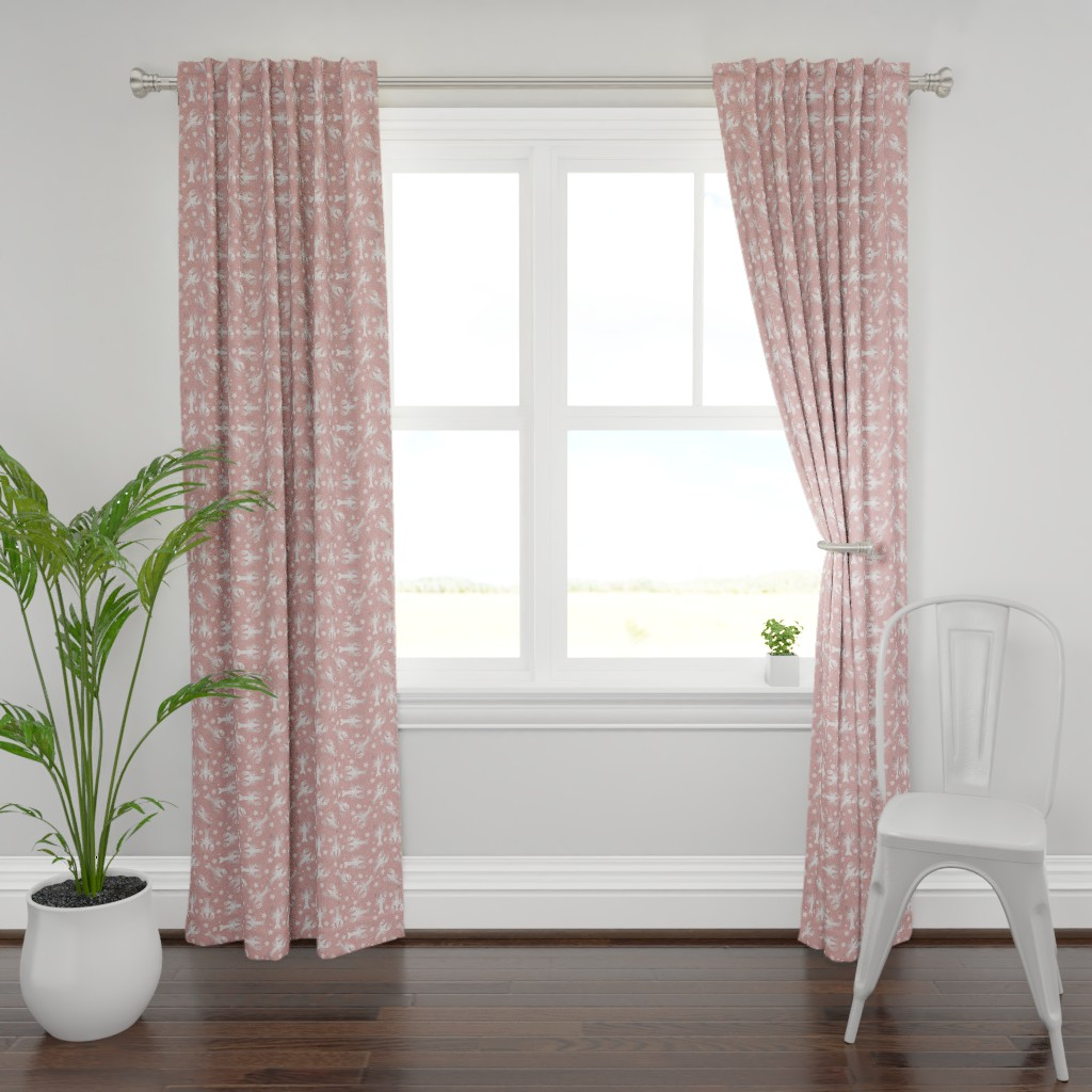 Plymouth Curtain Panel featuring lobster love pressed rose by colorofmagic