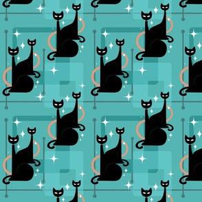 Atomic Age Sleek Black Cats