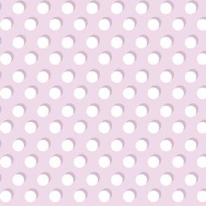 Shadow Dot // White on Lavender