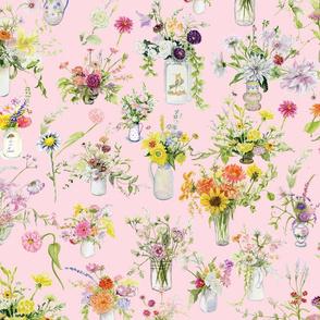 floral medley in pink