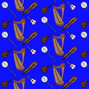 Fok Instruments on Blue by DulciArt, LLC