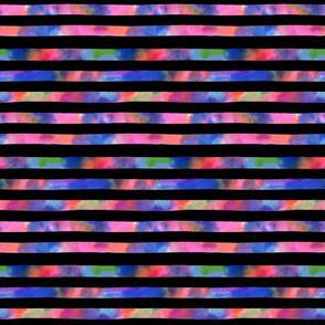 Horizontal watercolor lines-black