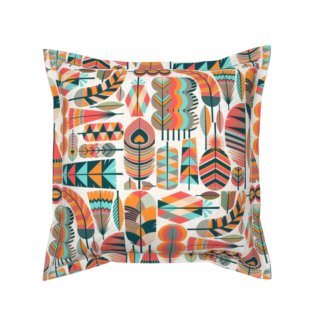 Serama Throw Pillow featuring The Shape of Feathers by meliszawang