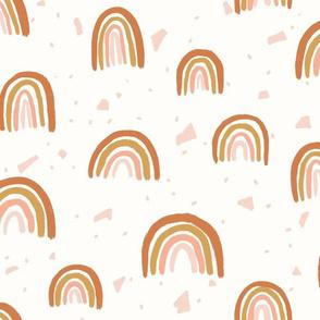 Terrazzo Terracotta Rainbows - Large Scale