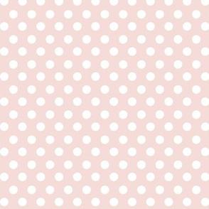 Simple Dot // White on Blush